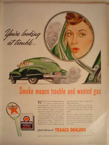 Texaco Gas Smoke means trouble (1943)