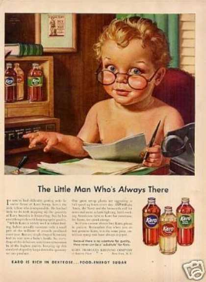 "Karo Syrup Ad ""The Little Man Who's... (1942)"