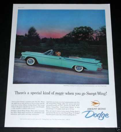 "Dodge ""Swept-win (1957)"