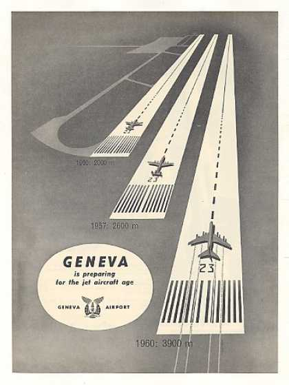 Geneva Airport Preparing for Jet Age Runway (1959)