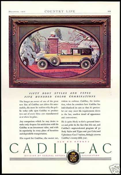 Cadillac Car 50 Body Styles 500 Color Combos (1927)