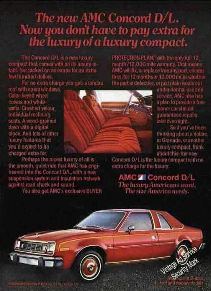 New Amc Concord D/l Color Photos (1978)