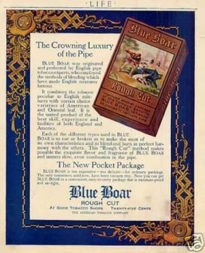Blue Boar Rough Cut Tobacco Color (1916)