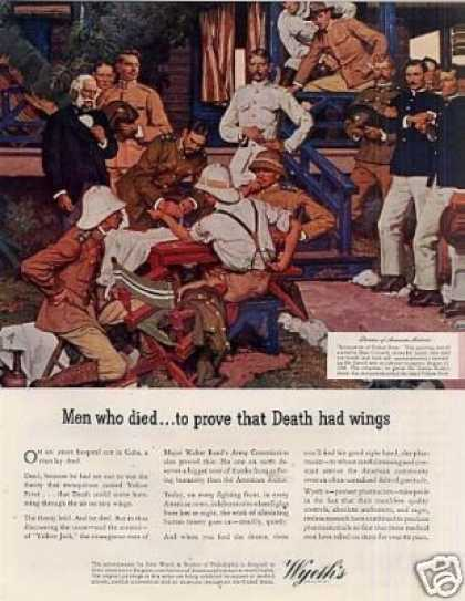 "Wyeth Ad ""Men Who Died..."" Dean Cornwell Art (1943)"