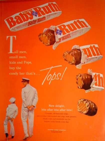 "Baby Ruth Sailor Theme ""The candy bar that's Tops"" (1961)"