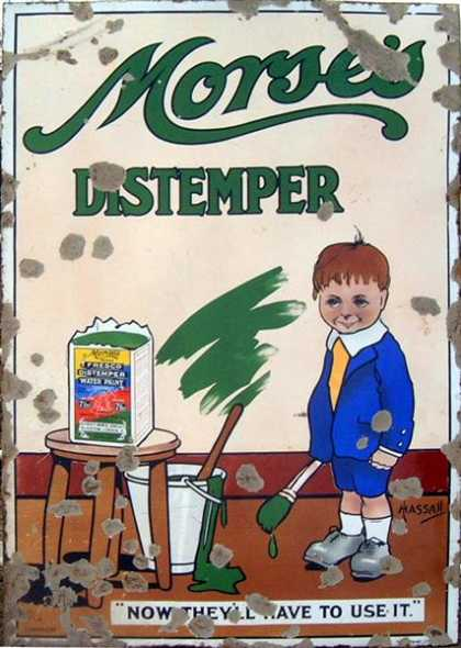 Morses Distemper old Sign By Hassall