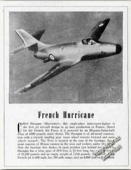 French Hurricane Interceptor-fig (1951)