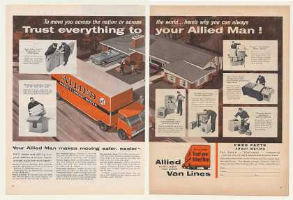 Allied Van Lines Moving Truck Trust Man (1959)