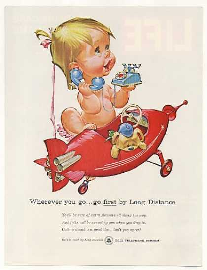 Betsy Bell Airplane Telephone Long Distance (1961)