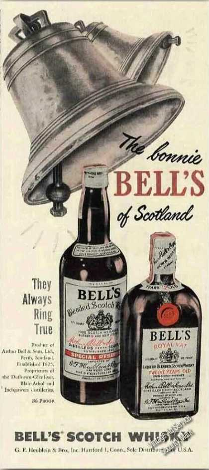 The Bonnie Bell's of Scotland Scotch Whiskey (1950)