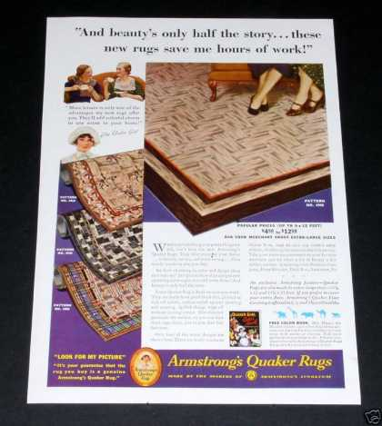 Armstrong Rugs, Quaker Girl (1935)