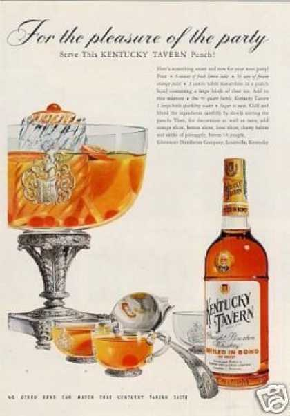Kentucky Tavern Bourbon Whiskey (1953)