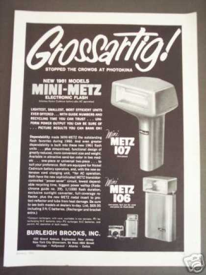 Grossartig Mini-metz Electronic Camera Flash (1961)