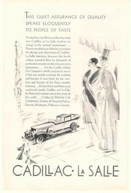 Cadillac La Salle Speaks to People of Taste (1929)