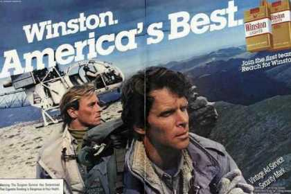 "Winston ""America's Best"" Helicopter On Mtn (1983)"