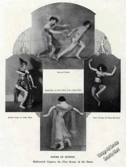 "Rabinovitch Photos ""Fleet Beauty of Dance"" Feature (1924)"