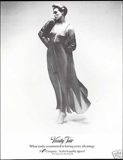 Vanity Fair Lingerie Pretty Lady Black & White (1984)