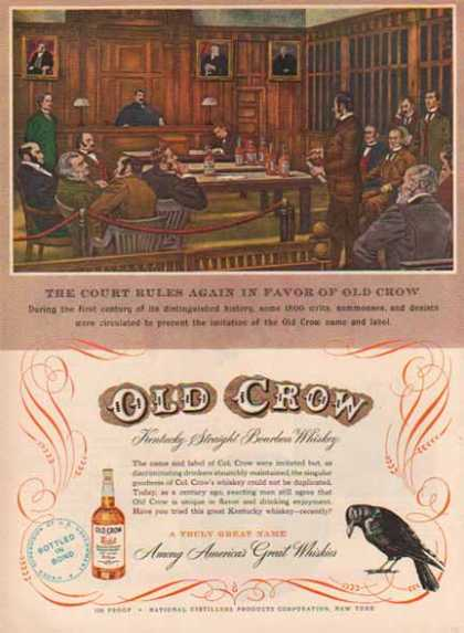 Old Crow Kentucky Bourbon Whiskey – Court Rules Again (1949)