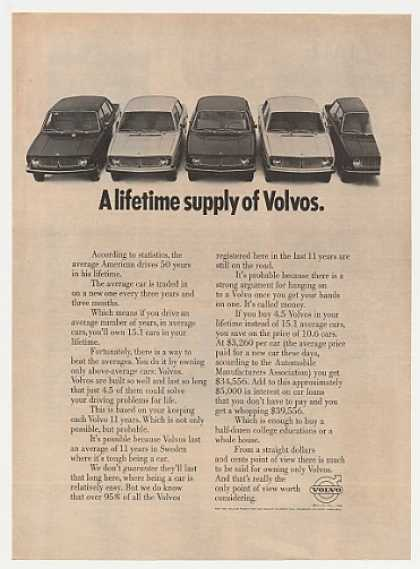 Volvo 4.5 Volvos a Lifetime Supply Photo (1968)
