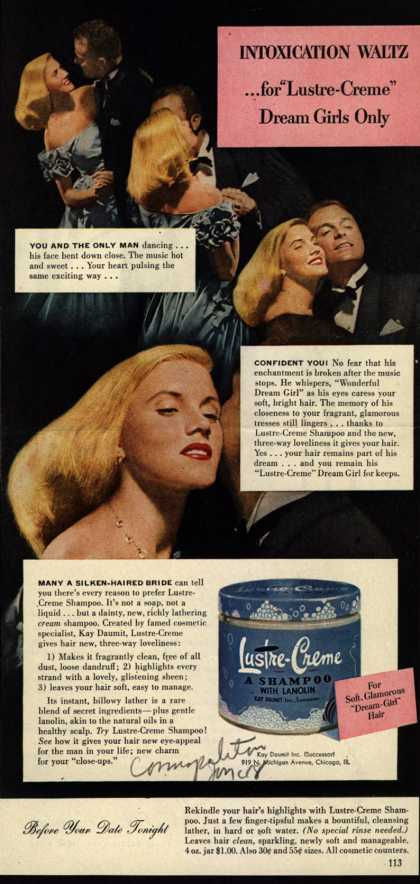 "Kay Daumit's Lustre-Creme Shampoo – Intoxication Waltz... for ""Lustre-Creme"" Dream Girls only (1948)"