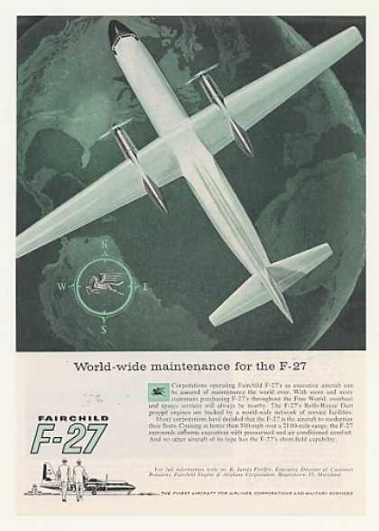 Fairchild F-27 Aircraft World-Wide Maintenance (1957)