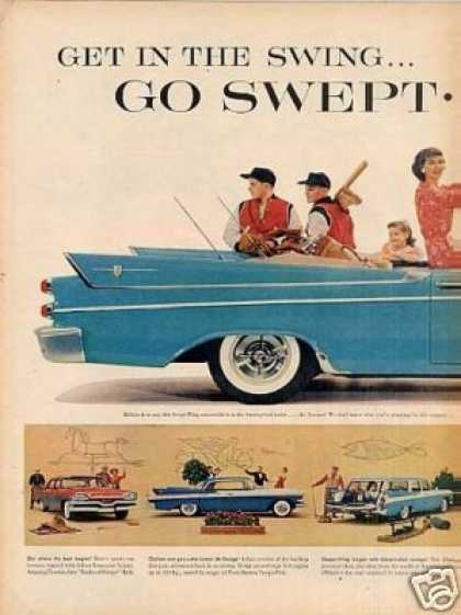 Dodge Swept-wing Convertible Car Ad 2 Page (1957)