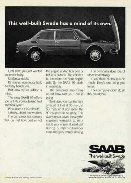 "Saab 99 ""Has a Mind of Its Own"" Car (1970)"