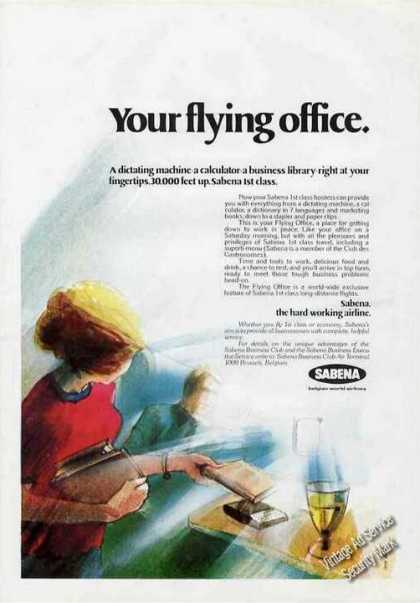 Sabena Airlines Your Flying Office Nice (1975)