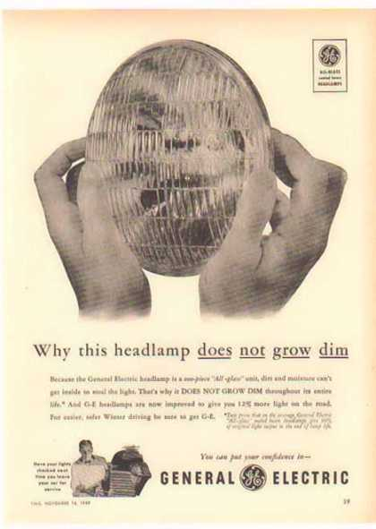 General Electric – Headlamp Does Not Grow Dim (1949)