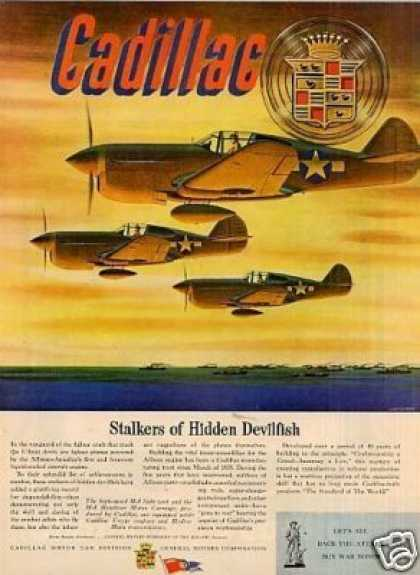 Wwii Cadillac Ad Fighter Planes (1944)
