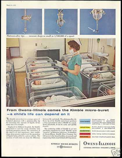 Hospital Baby Nurse Photo Kimble Micro Buret (1959)