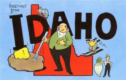 Greetings from Idaho, Cartoon