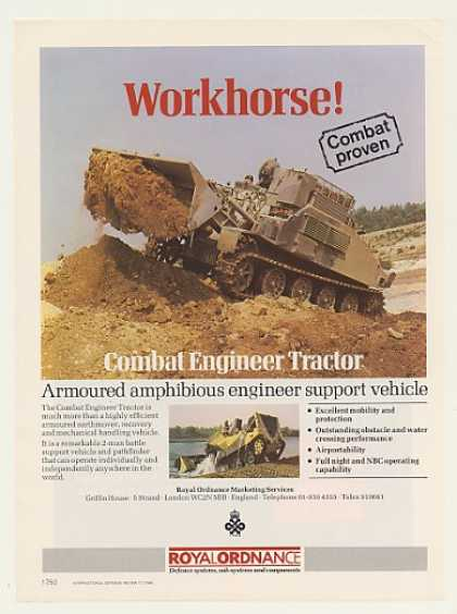 Royal Ordnance Combat Engineer Tractor Photo (1985)