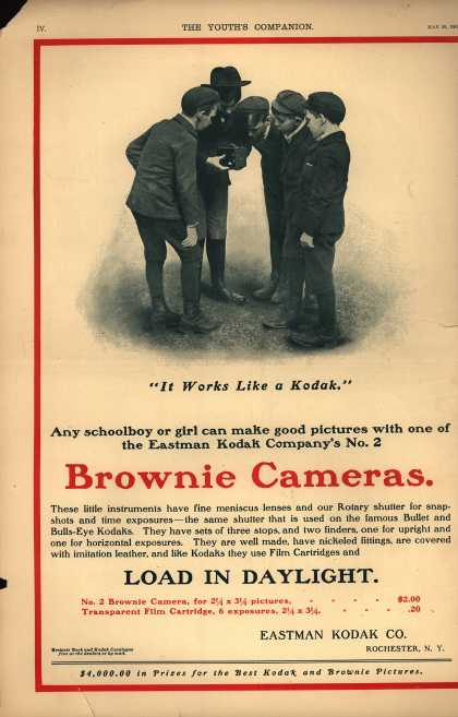 Kodak's Brownie cameras – Brownie Cameras. Load In Daylight. (1902)