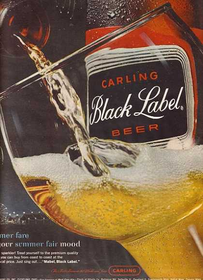Carling 's Black Label Beer (1963)