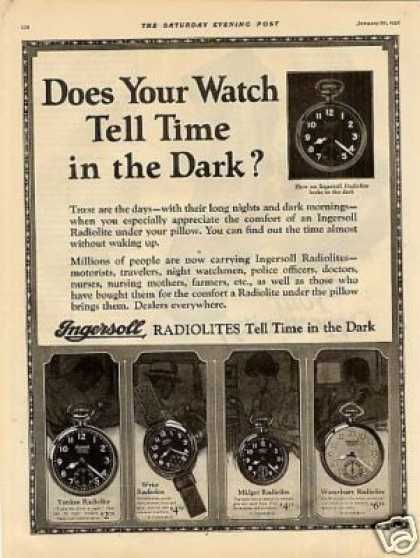 Ingersoll Radiolite Watches (1926)