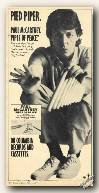 Paul Mccartney Picture Pipes of Peace Album (1983)
