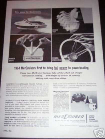 Original Mercruiser Stern Drive Ad Power Boat (1964)