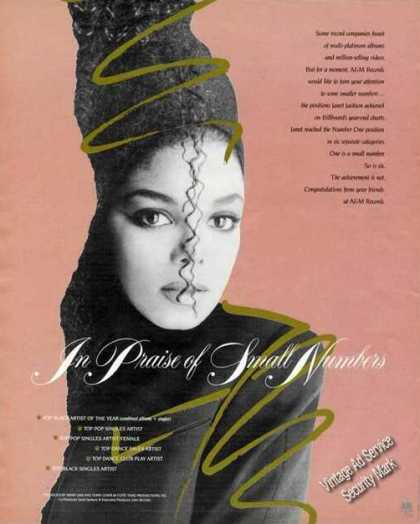 Janet Jackson Photo Music Promo A&m (1986)