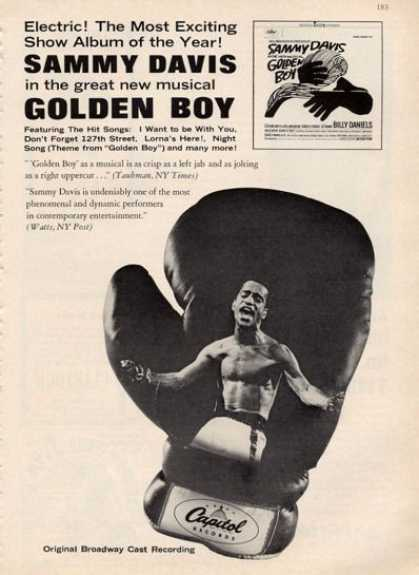 Golden Boy Ad Rare Sammy Davis Music (1964)