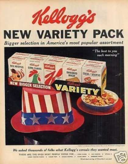Kellogg's Variety Pack Cereal (1959)