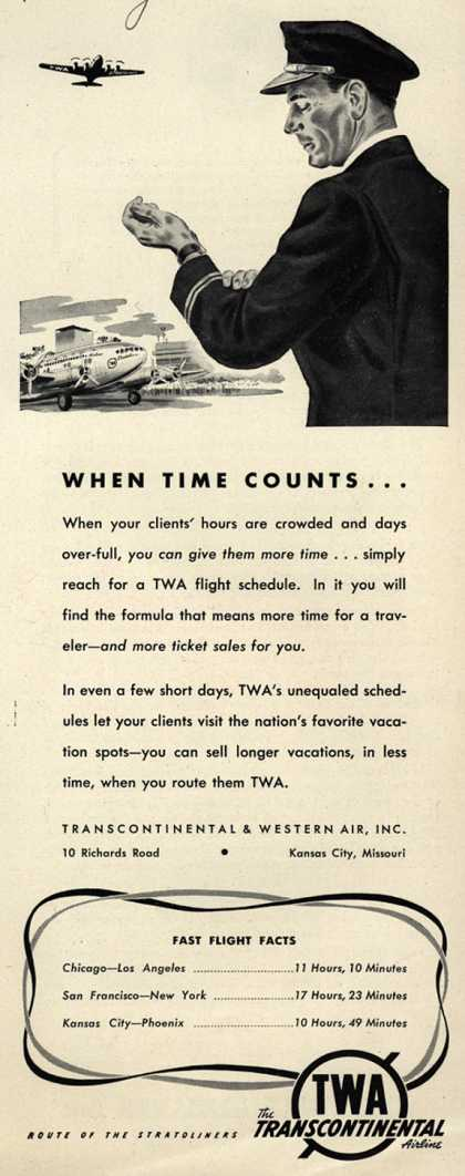 Transcontinental & Western Air – When Time Counts... (1941)