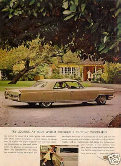 """Cadillac Car Ad """"Try Looking at Your... (1964)"""