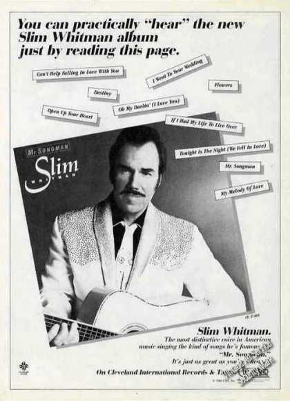 "Slim Whitman ""Mr. Songman"" Country Music (1981)"