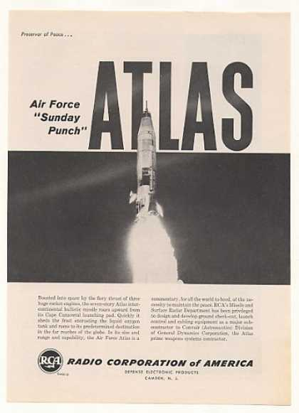 Air Force Atlas Missile Launch RCA Photo (1959)