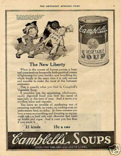 "Campbell's Soup Ad ""The New Liberty"" (1920)"