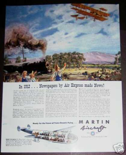 Airplane Art By Mackall – Martin Aircraft Plane (1940)