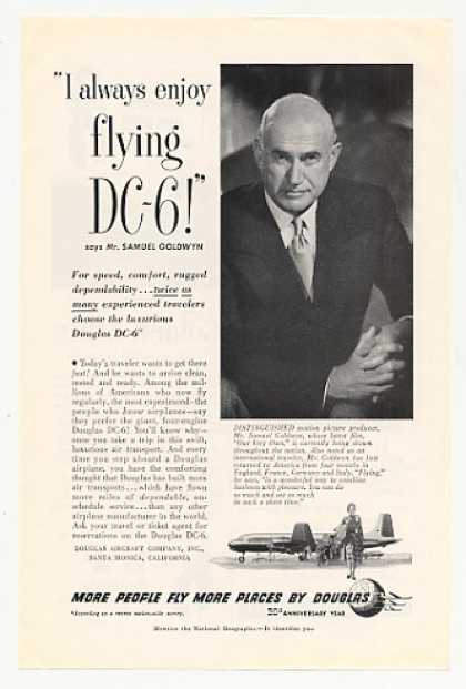 Samuel Goldwyn Douglas DC-6 Aircraft Photo (1950)