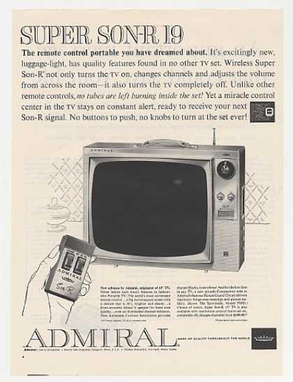 Admiral Super Son-R 19 Sportsman Model PS921 TV (1961)