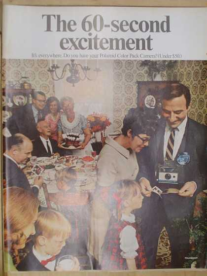 Polaroid instant land camera. The 60 second excitement (1968)